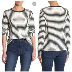 Madewell Striped Long Sleeve Pocket Tshirt